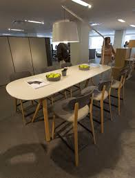 Teknion Reception Desk Teknion Zones Canteen Table And Stools Neocon 2016 Teknion