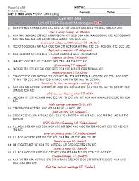 dna the secret of life worksheet answers fts e info