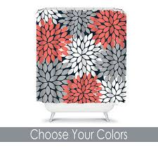 best of coral shower curtains and coral colored shower curtain
