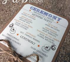 rustic wedding programs particular put a bird on it wedding program fans to keep guests
