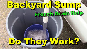 low water sump pump backyard sump pump do they work youtube