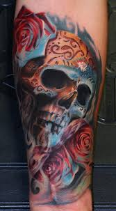 day of the dead skull by remis tattoonow