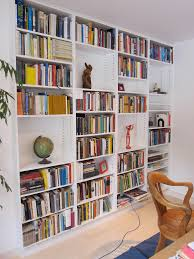 modern built in bookshelves mdf painted bookcase in the living