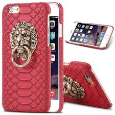 metal lion ring holder images For iphone 6 6s case punk ring lion head metal stand holder phone jpg