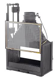 Indoor Outdoor Wood Fireplace Double Sided - double sided cast iron slow combustion open fireplace by cheminees
