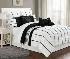 King Black Comforter Set White And Black Bed Sets Modern Black Bedding Sets Allmodern