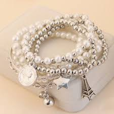 online bracelet images Wholesale 6 pcs of faux pearl decorated star pendant charm jpg