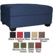 microfiber ottoman with storage foter
