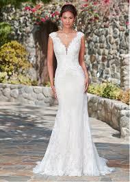 wedding dresses mermaid buy discount fabulous lace v neck neckline waistline