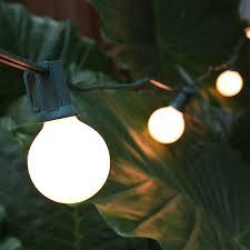 white patio lights g30 globe string lights set white satin c7 patio lights