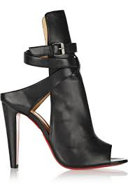 christian louboutin hippik 100 cutout leather ankle boots in black