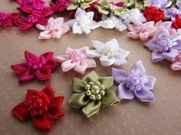 satin ribbon bows embellishment world ribbon flowers bows ribbon flowers
