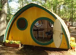 large wooden outdoor backyard hobbit hole playhouse kit
