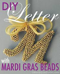 Monogram Letter Party Ideas By Mardi Gras Outlet Mardi Gras Bead Craft Diy
