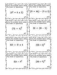order of operations worksheets with exponents 83 best order of operations images on teaching ideas