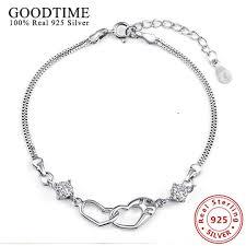sterling heart charm bracelet images Solid 925 sterling silver jewelry bracele 925 silver bangles jpg
