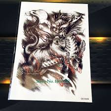 online shop 1pc cool chinese dragon sketch temporary tattoo