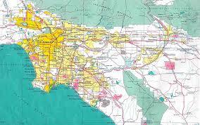 Los Angeles Gangs Map Territory by Los Angeles