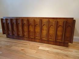 brutalist mid century modern credenza or hutch or china cabinet at