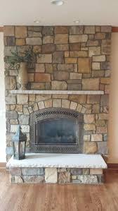 rock gold direct vent gas fireplace exterior wall rush natural