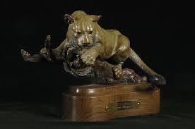 mountain lion statue mountain lion sculpture by christine knapp