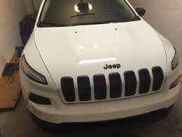 jeep cherokee white with black rims plastidip emblems and grille 2014 jeep cherokee forums