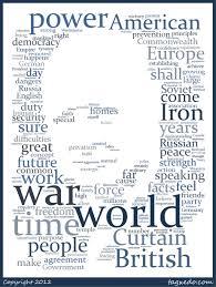 Iron Curtain Speech Churchill U0027s Iron Curtain Speech Word Cloud U2013 Jivespin