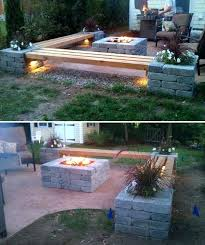 outdoor space ideas best fire pit ideas on cooking grillhow to make a cinder block for