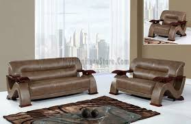 u2033 2pc bonded leather sofa and loveseat living room set by global