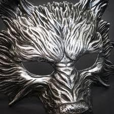 silver mask wolf masquerade mask wolverine mask free shipping