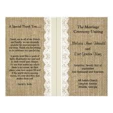 burlap wedding programs best lace wedding programs products on wanelo