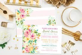 sale digital printable watercolor floral bridal shower