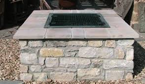 Fire Pit Insert Square by Outdoor Stone Fire Pit Kits And Fire Pit Inserts