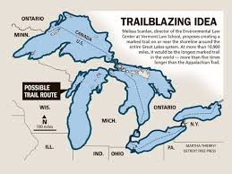 canadian map with great lakes world s marked trail proposed around great lakes