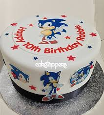 sonic the hedgehog cake topper personalised edible sonic the hedgehog icing cake toppers boys