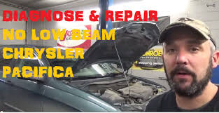 no low beam head lamp chrysler pacifica youtube