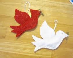 flying bird ornaments diy real