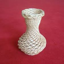 natural color hand made woven willow vase flower decorative wicker