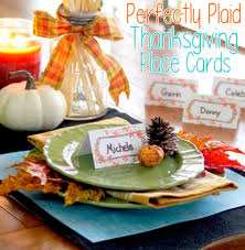 thanksgiving name tags plaid thanksgiving place cards
