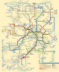 Metro Yellow Line Map by Official Map Bus And Tram Network Map Transit Maps