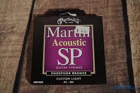 martin custom light sp acoustic guitar strings 11 52