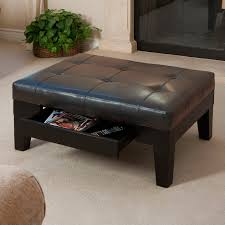 Wood Storage Ottoman by Winslow Bicast Tufted Leather Coffee Table Ottoman Hayneedle