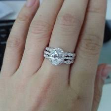 womens wedding ring sets sterling silver with gemstones band engagement wedding ring sets