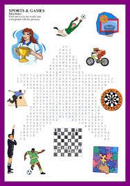 crossword and wordserch for kids esl