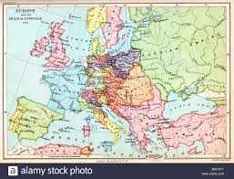A Map Of Europe A Map Of Europe After The Peace Of Luneville 1801 Colour Stock