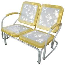 Yellow Patio Chairs 4d Concepts Metal Retro Patio Glider Loveseat Yellow Eclectic