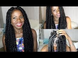 how many bags for big box braids how to do big box braids proctective style youtube
