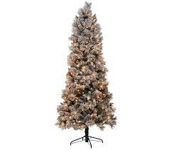 kringle express flocked 7 5 u0027 winter slim christmas tree page 1