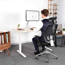 Standing To Sitting Desk Tekdesk Height Adjustable Electronic Standing Desk Deskstand