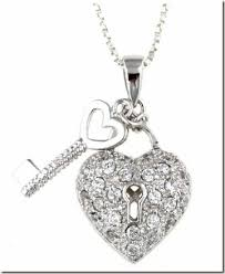 silver heart key necklace images 5 under 20 heart pendant necklaces thegloss jpg